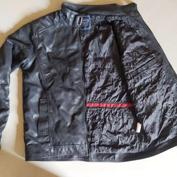 Jaqueta de couro preta masculina m impermeável