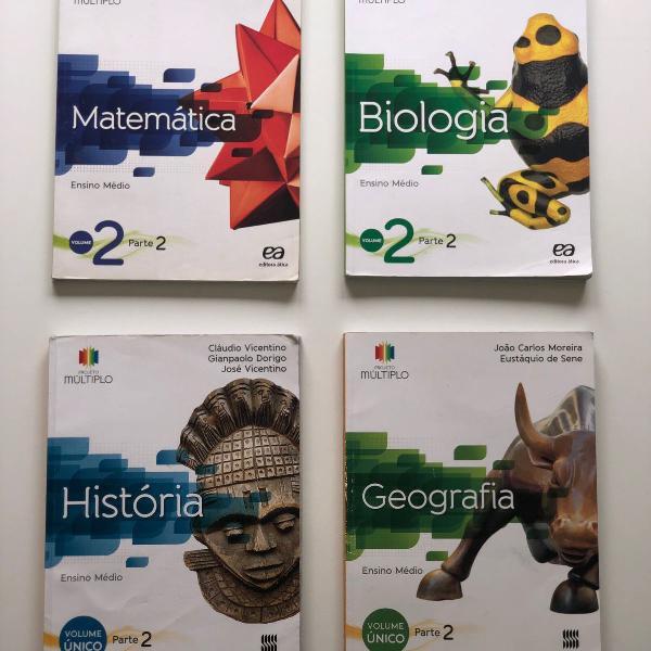 Livros projeto múltiplo - matematica, biologia, história e