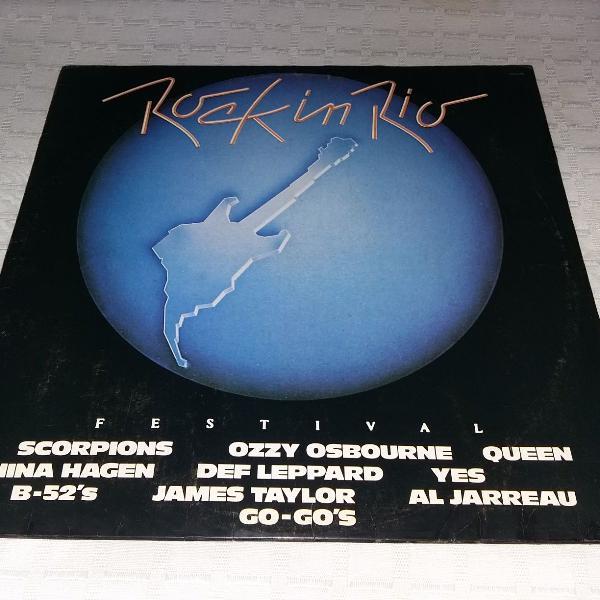 Lp rock in rio - queen, scorpions, yes, ozzy osbourne, james