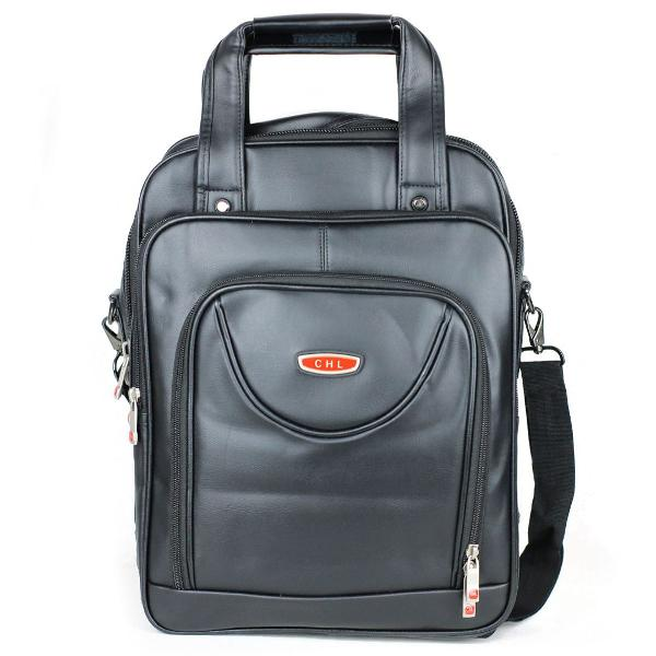 Mochila maleta executiva p/ notebook 14 15.6 couro c/ alça