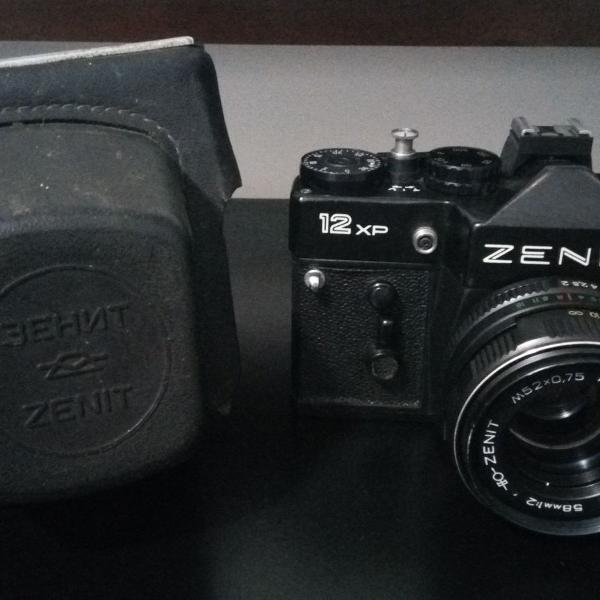 Máquina câmera fotográfica analógica zenit 12xp perfeita