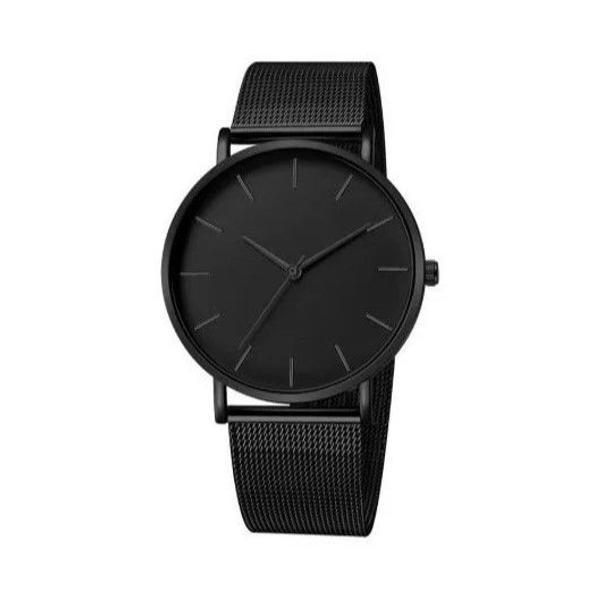 Relógio de pulso preto elegante prova d'água ultimas