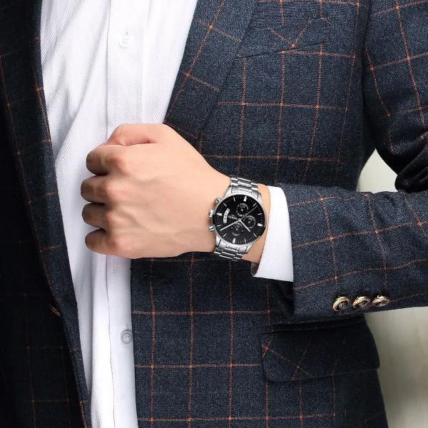 Relógio nibosi orginal de luxo