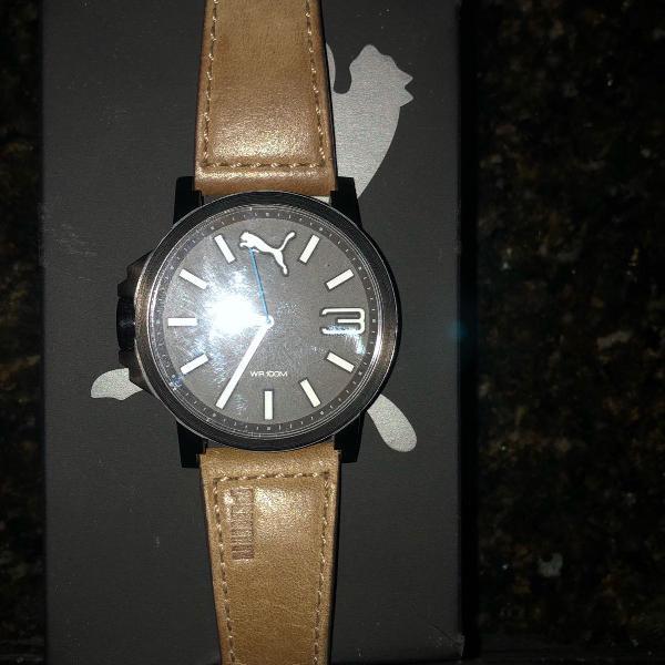 Relógio puma stainless steel 805 preto