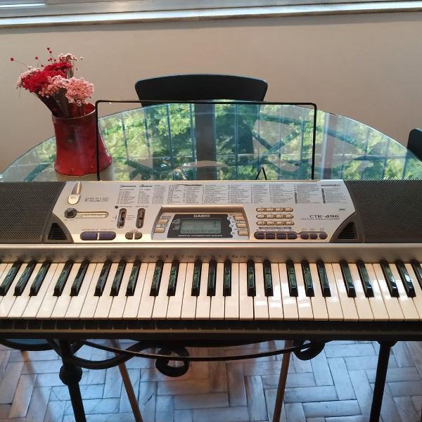 Teclado musical casio ctk-496