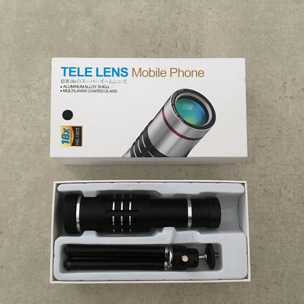 Tele lente de zoom para celular