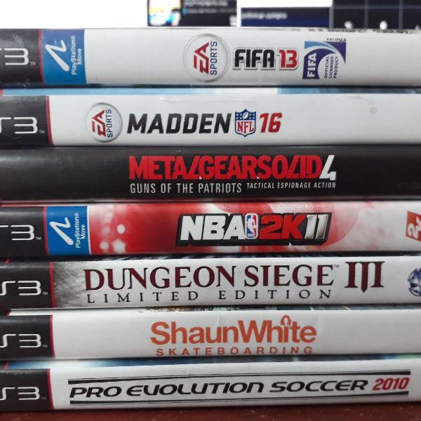 7 jogos de ps3