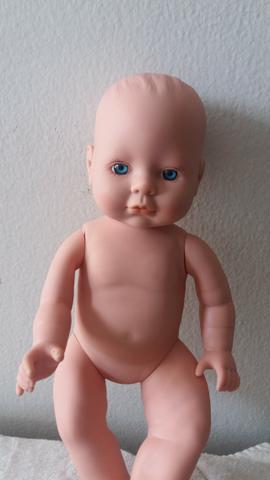 Boneca bebe recem nascido olhos azuis 1997