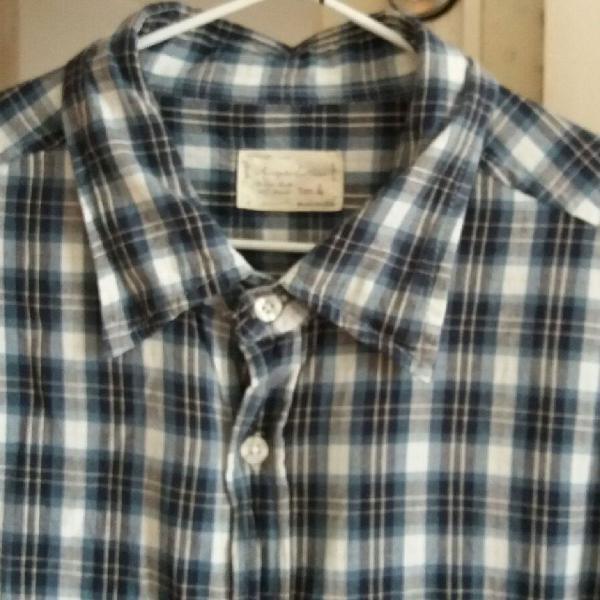 Camisa xadrez masculina tam.4 usada bom estado