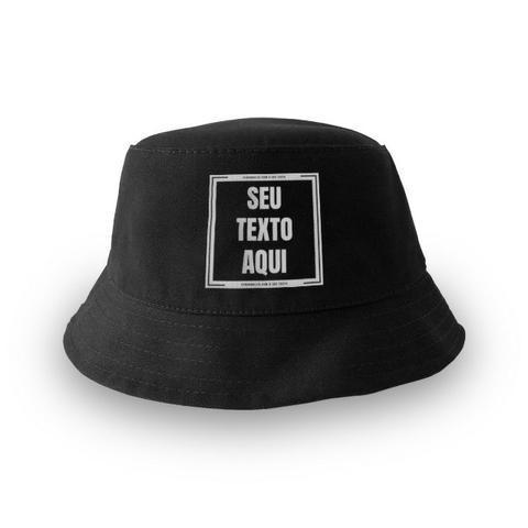 Chapéu bucket hat preto personalizado (+ cores