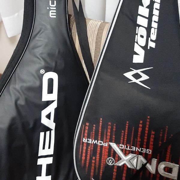 Conjunto de capas para raquetes de tênis- head e volkl