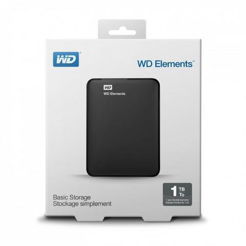 Hd externo portátil western digital elements - 1tb usb 3.0