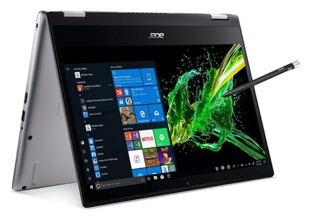 """Notebook acer spin 3 touch-screen, conversível, 14"""", i7,"""