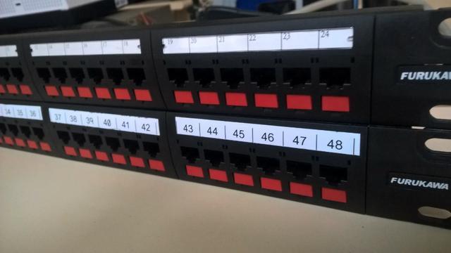 Patch panel gigalan cat6 24 portas furukawa seminovo
