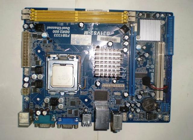 Placa mãe phitronics g31vs2m ddr2 + cooler + processador