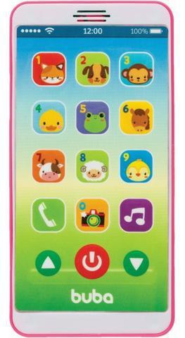 Telefone bebê celular musical - buba baby - rosa ou azul