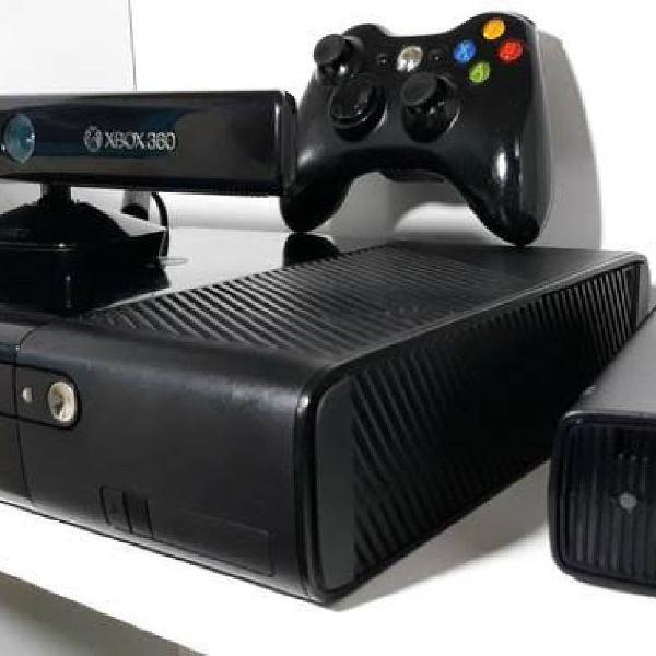 Xbox 360 super slim + kinect + 3 jogos originais