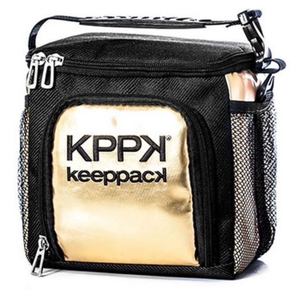 Bolsa térmica keeppack mid dourada