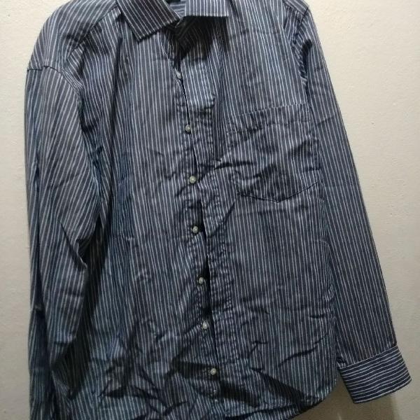 Camisa de botões manga longa, listrado