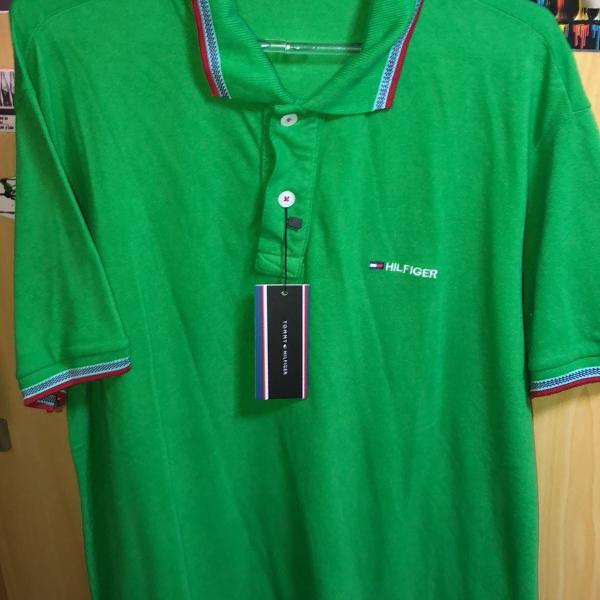 Camisa gola polo tommy super estilosa com etiqueta e cheiro