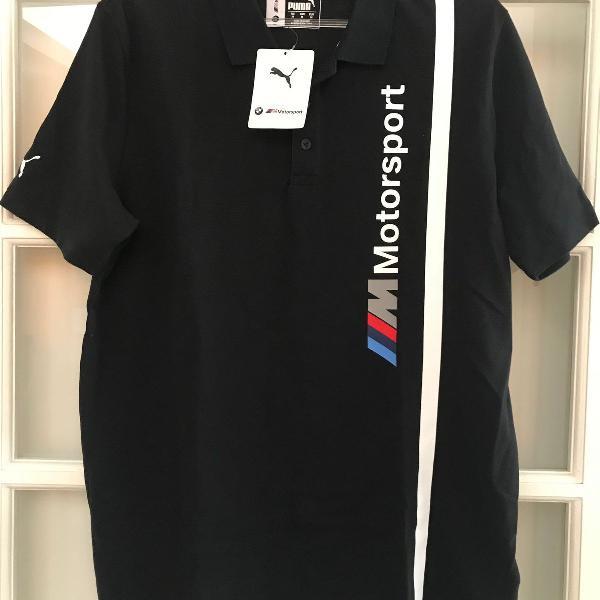 Camisa polo masculina bmw puma preta m