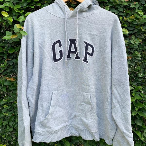 Casaco de moletom cinza gap g