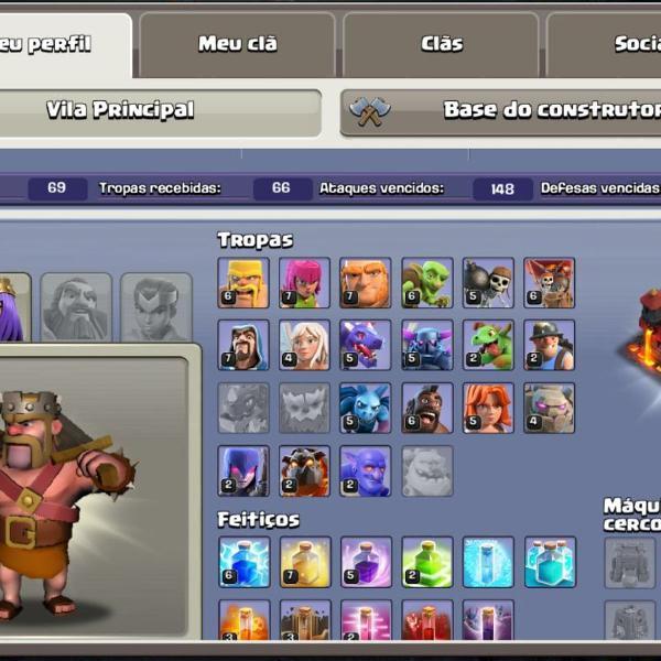 Conta de clash of clans e clash royale (supercell id)