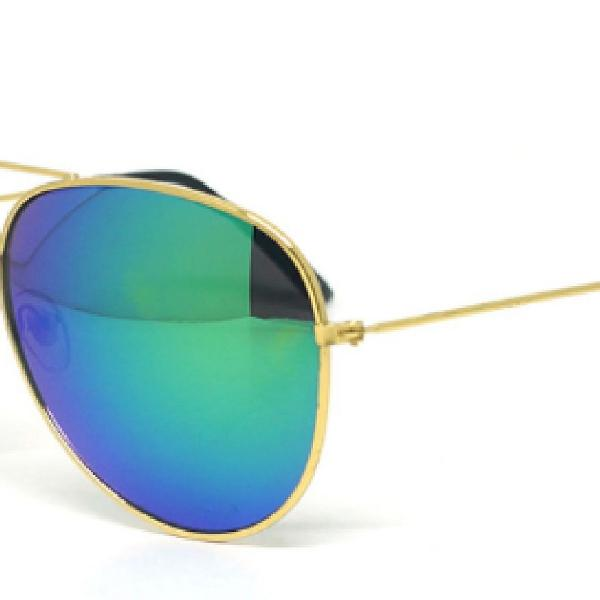 Culos de sol ray-ban aviador azul degradê - barato é na