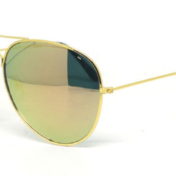 Culos de sol ray-ban aviador verde espelhado - o barato é