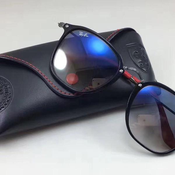 Ray ban scuderia ferrari rb2448nm f6013f óculos de sol