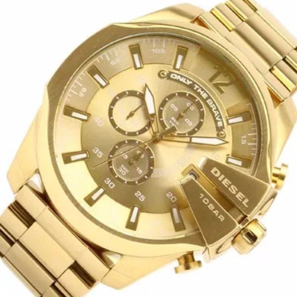 Relógio diesel 4360 dourado garantia de 1 ano