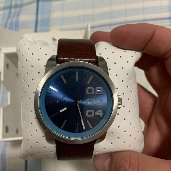 Relógio diesel pulseira de couro marrom
