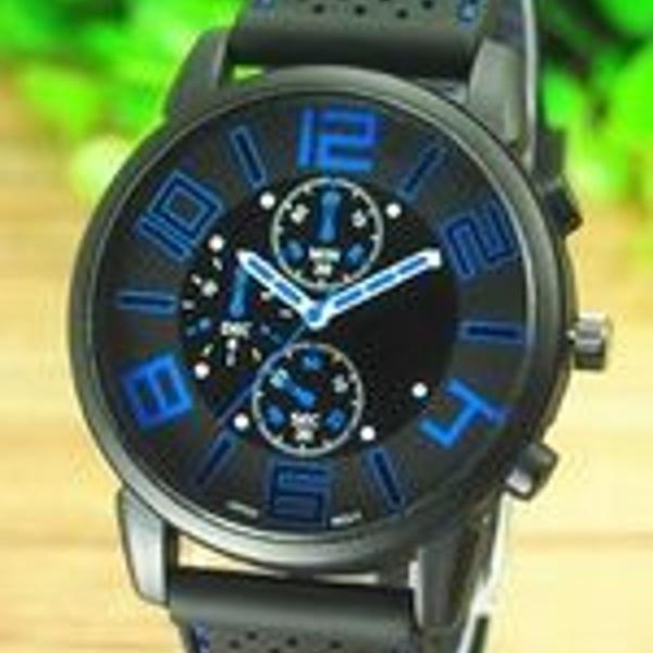 Relógio masculino analógico pulseira silicone emborrachado
