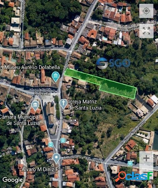 Lote de 3.800 m² na rua do serro, centro de santa luzia-mg