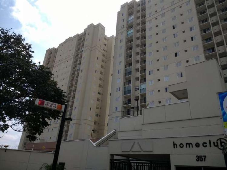 Apartamento 50m²- 2 dorms.+ vaga - home club carrão -