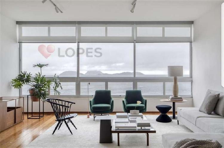 Maravilhoso apartamento com vista mar de Ipanema com 3