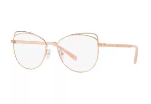 Armação oculos grau michael kors mk3025 1108 53 rosê