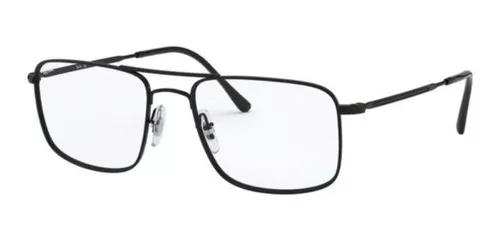 Armação oculos grau ray ban rb6434 2509 55 preto brilho