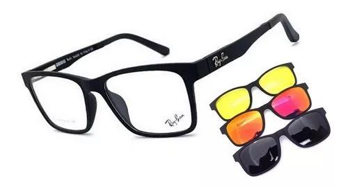 Armação oculos grau solar clip on original c/ molas haste