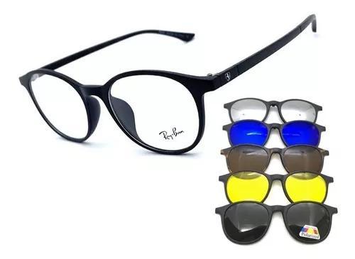 Armação oculos grau solar masculino 6