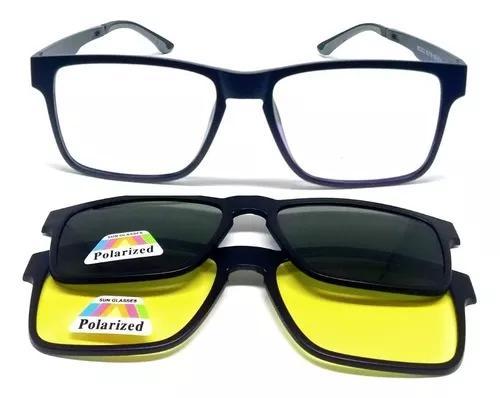 Armação óculos grau clip on 3