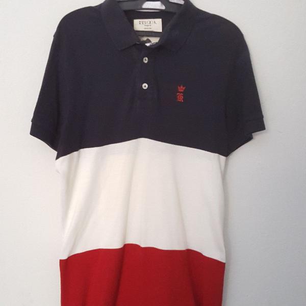 Camiseta gola polo sérgio k. 3 cores