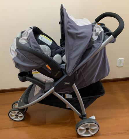 Carrinho chicco viaro + bebê conforto com keyfit 30 com