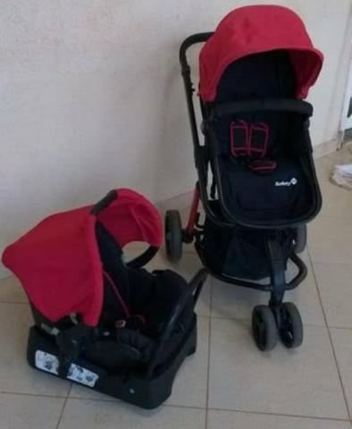 Carrinho, cadeirinha de carro e bebê conforto da safety