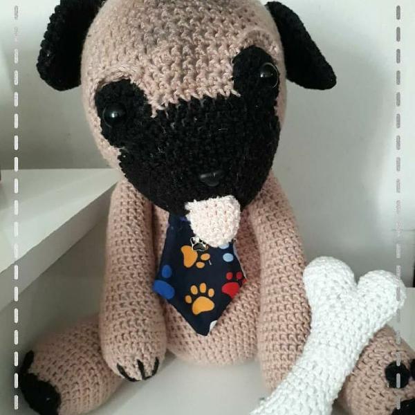 DIY Amigurumi Pug Amigurumi Recipe – Amigurumi Crochet Dog Chart ... | 600x600