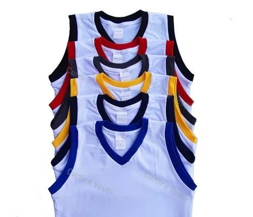 Kit 3 regatas infantil escolar uniforme 2/3/4/6/8