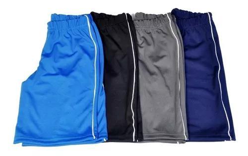 Kit 4 bermuda juvenil helanca uniforme escolar 10/12/14