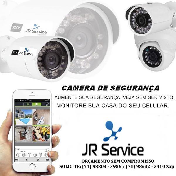 Kit cameras de segurança completo é instalado