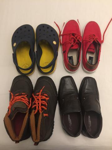 Lote de sapatos infantil