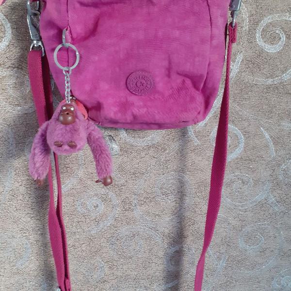 Mini bolsa kipling roxa original
